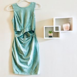 Windsor Teal Green Suede Bodycon Dress